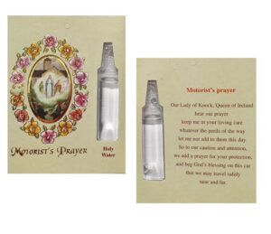 Knock Motorist Prayer Card With Holy Water