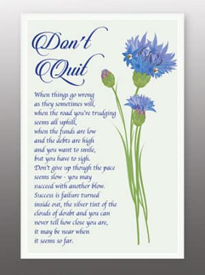 Don't Quit – Glass Plaque