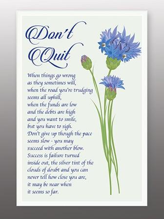 Don't Quit prayer