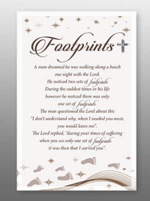 Footprints – Glass Plaque