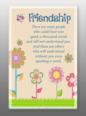 Friendship – Glass Plaque