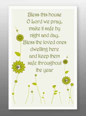 Bless This Home – Glass Plaque