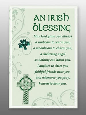 Irish Blessing – Glass Plaques