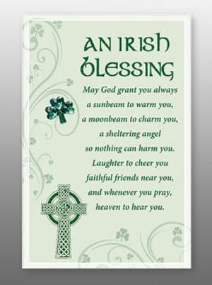 Irish Blessing – Glass Plaques