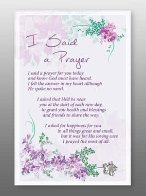 I Said A Prayer – Glass Plaque