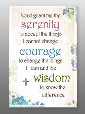 Serenity Prayer – Glass Plaque