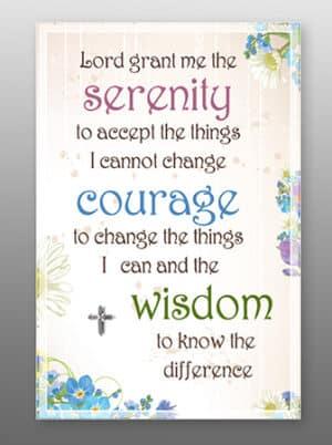 Serenity Prayer – Glass Plaque