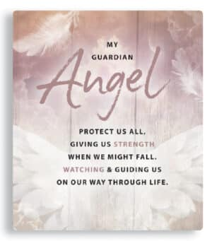 Porcelain Plaque – My Guardian Angel