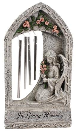 Angel Windchime grave plaque