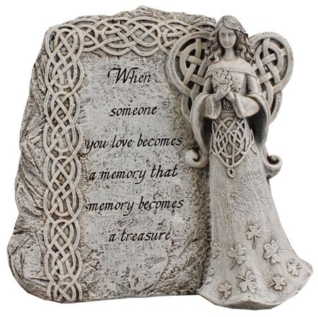 Angel grave plaque