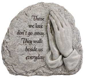 Resin Grave Plaque Praying Hands