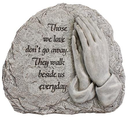 grave plague praying hands