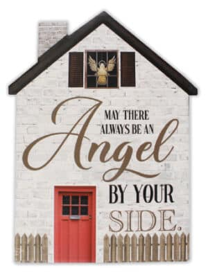 Porcelain Plaque – Angel By Your Side