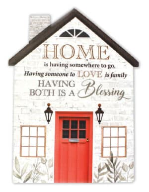 Porcelain Plaque – Home, Love is family