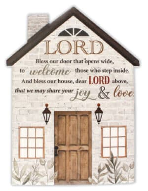 Porcelain Plaque – Lord Bless Our Door