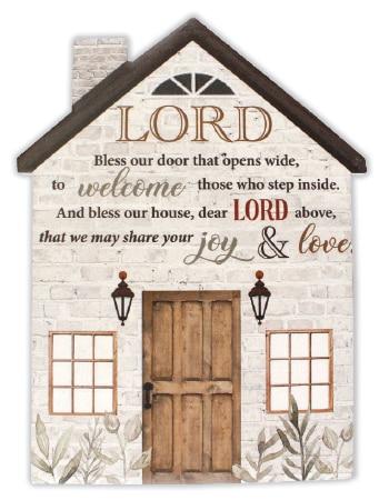 Bless our Door plaque