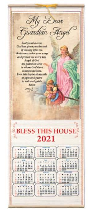 Wood Scroll Calendar – Guardian Angel
