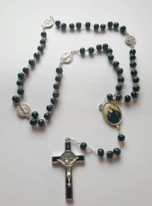 St. Benedict Black Rosary Beads