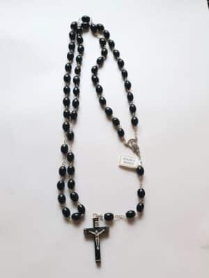 Our Lady Black Beads  – Double Wired