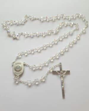 Knock Clear Crystal Glass Beads With Holy Water