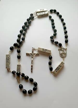 Mysteries Of the Rosary – Black Wooden Beads