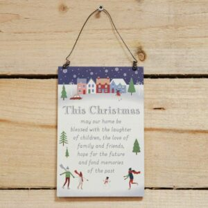 This Christmas May Our Home… Hanging Plaque