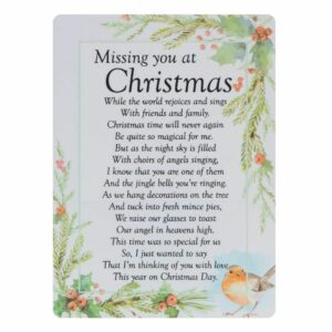 "Graveside Memorial Cards "" Missing you at  Christmas"""
