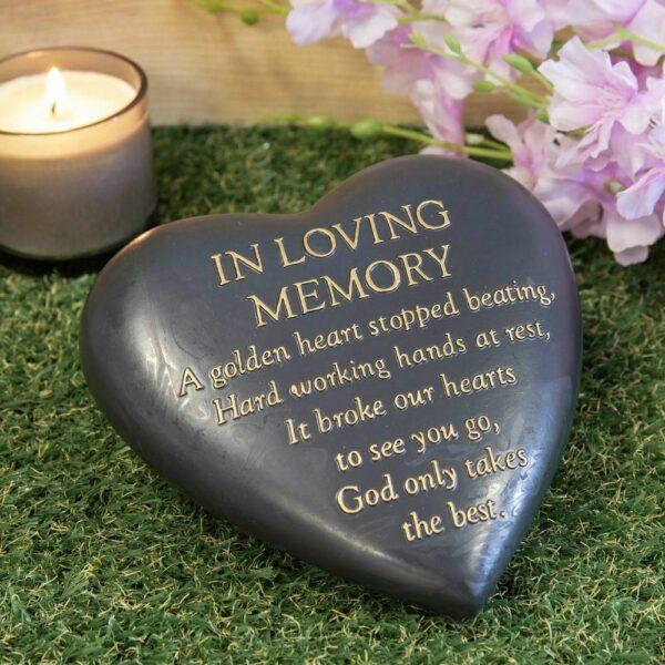 heart stone in loving memory