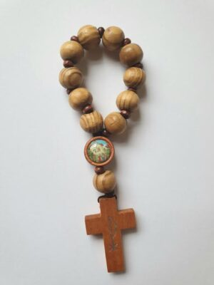 Knock Wood One Decade Rosary Ring
