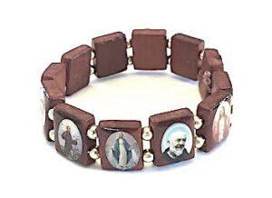 12 Saints Wood Stretch Bracelet