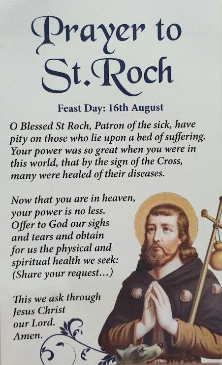 St. Roch Prayer