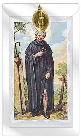 St. Peregrine Prayer Leaflet & Medal