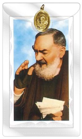 St. Pio Prayer Leaflet & Medal