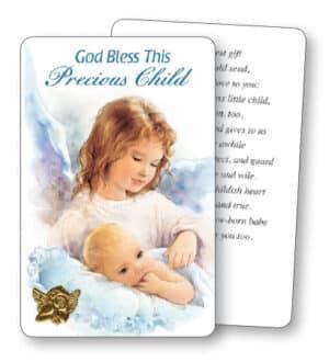 Prayer Card/Guardian Angel-Baby Boy
