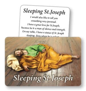 Sleeping Saint Joseph –  Prayer Card