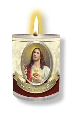 Sacred Heart 4 pack candle