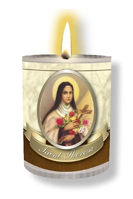 St Therese 4 Pack candle