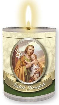 Saint Joseph Plastic Votive Candle 4PK