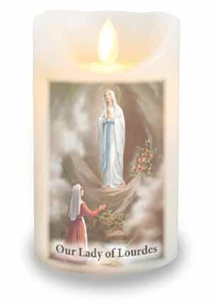 St Lourdes Candle/Scented Wax