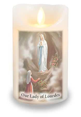 Lourdes LED Candle