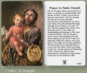 Saint Joseph – Prayer Card
