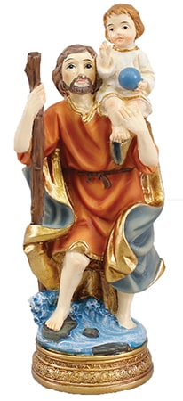 St. Christopher 5 inch Statue