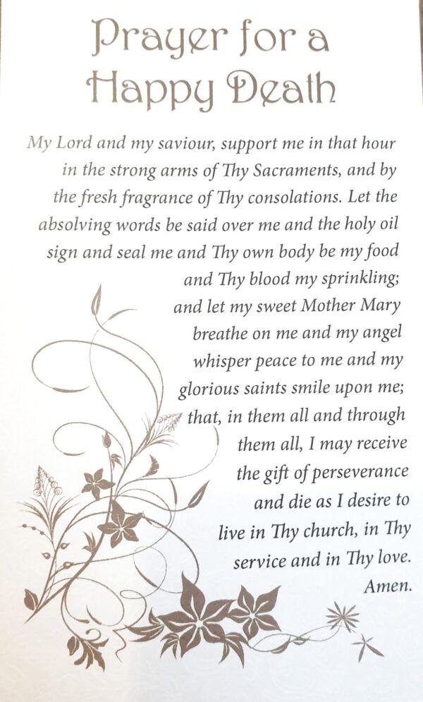 Prayer for happy death
