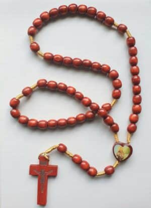 St. Anthony & Pope Francis Wooden Rosary Beads