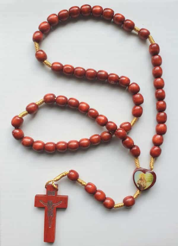 St Anthony Wooden Rosary