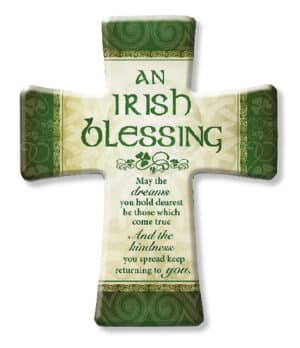 Porcelain Cross/Irish Blessing
