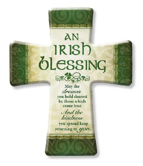 Porcelain Cross/Irish Blessing