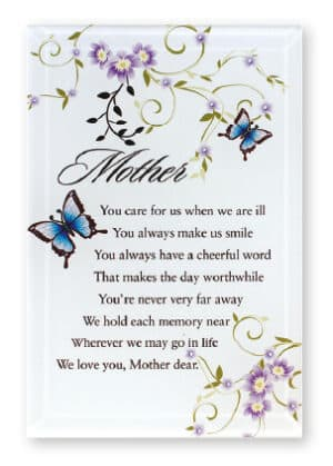 Mother – Glass Plaque (Butterfly)