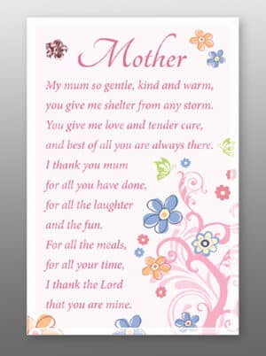 Mother – Glass Plaque