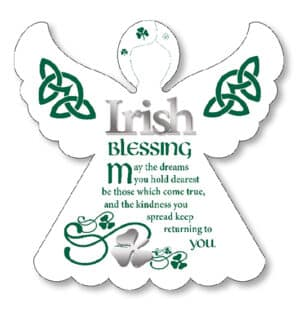 /Irish Blessing – Wood Angel Plaque